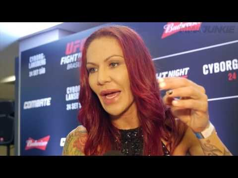 Cristiane 'Cyborg' Justino and Lina Lansberg discuss the final days of cutting weight down for UFC F