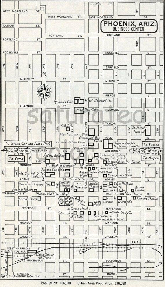 Best Map Of Phoenix Arizona Ideas On Pinterest Az Info - Phoenix arizona on us map