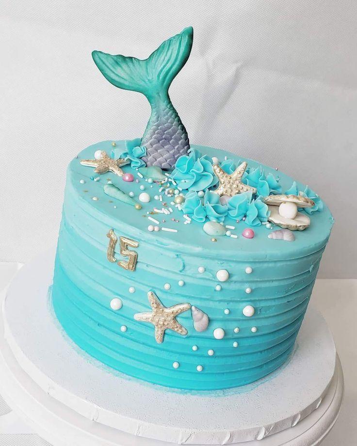 Wondrous Mermaid Cake Cake Mermaid Mermaid Cake Cake Mermaid In 2020 Personalised Birthday Cards Sponlily Jamesorg
