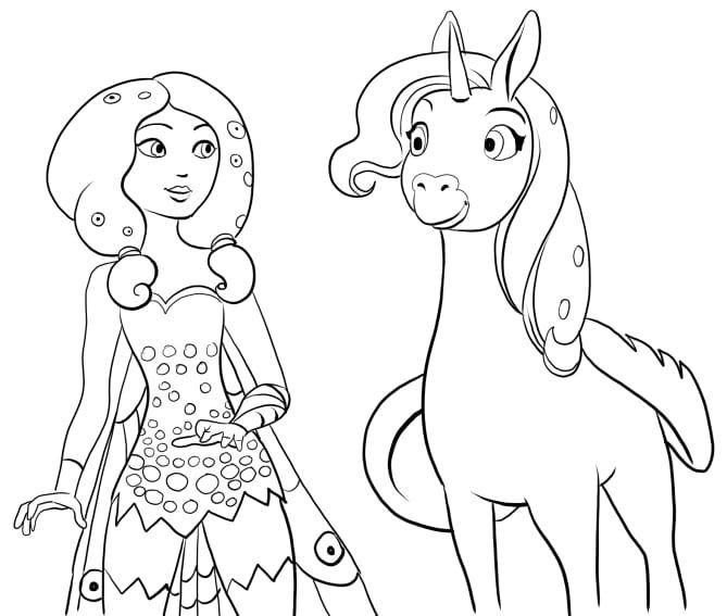 Coloriages gratuits Mia et moi (mia and me) | Unicorn ...