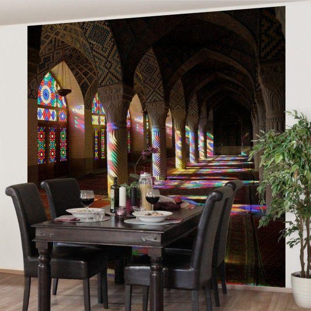 Vliestapete - Küchentapete Lichter in der Moschee - Fototapete Quadrat