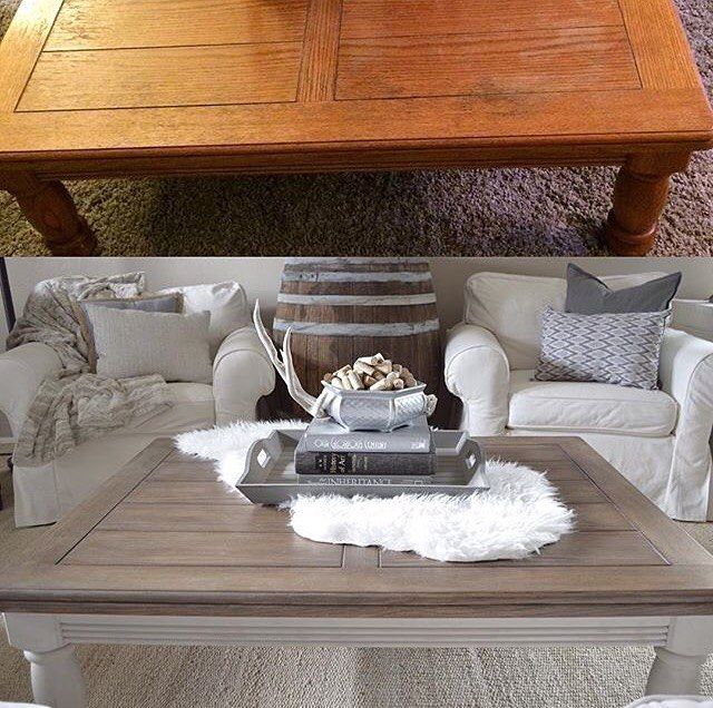 Curious how I refinished this ugly orange looking table into this fresh farmhouse look? All of the details on the blog...link in my profile! I would love to hear what you all think of my budget friendly table! Happy Tuesday! #farmhouse #farmhouselove #farmhousedecor #farmhousestyle #thriftstorefinds #thrifted #thriftscorethursday #painted #paintedfurniture #ipaintfurniture #refurbished #refurbishedfurniture #upcycled #modernfarmhouse #rustic #rusticdecor #simplelife #simpleliving…