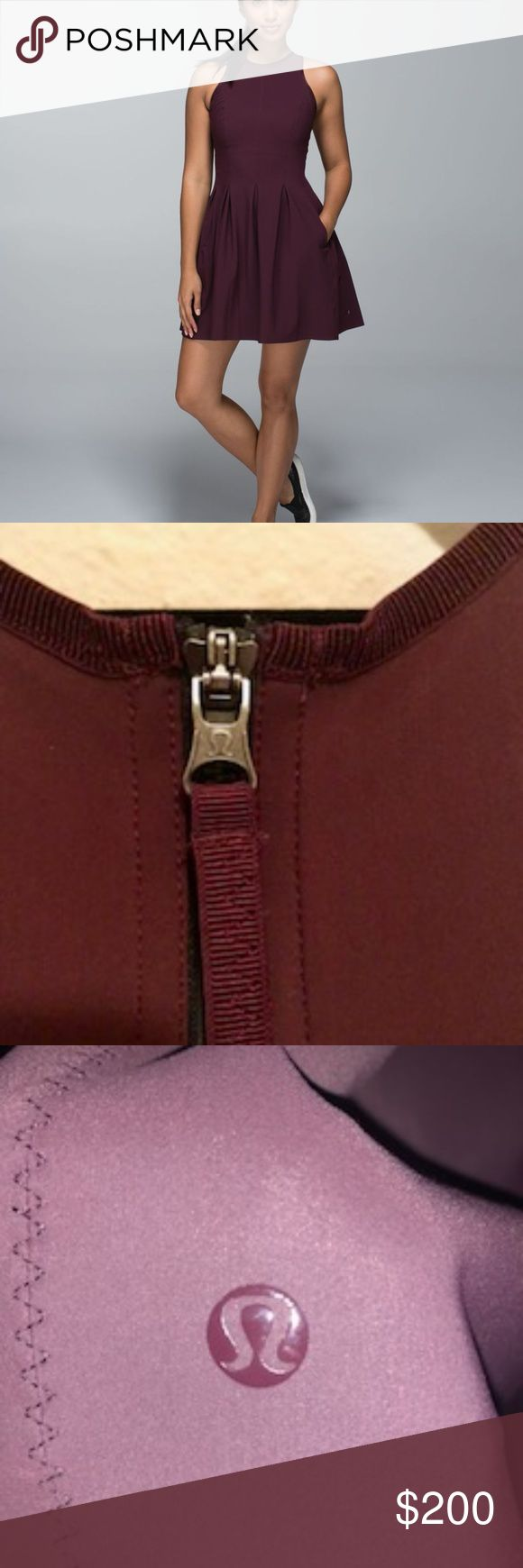 """lululemon """"Here to there"""" Dress """"Here to There"""" Dress in bordeaux. Perfect dress. lululemon athletica Dresses Midi"""