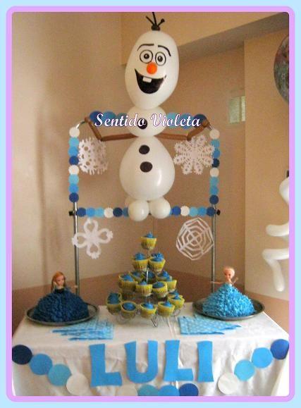 Frozen Party Ideas sentido violeta
