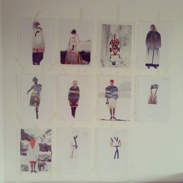It`s time to start work.  #projekt #project #kolorowo #kolekcja #fashion #collage #kolaż #draw #drawing #design #clothes #new #sew #wall #inspiration #nature #queenzoja #art #slowfashion