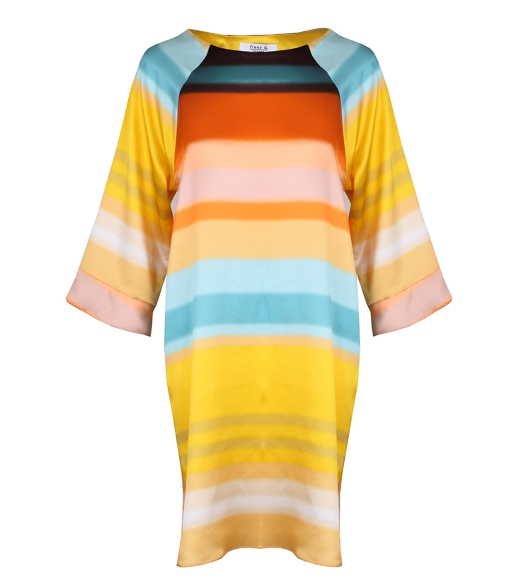 fleur b. Lady Duke Dress Print Ombre. Available online at www.fleurb.co.uk