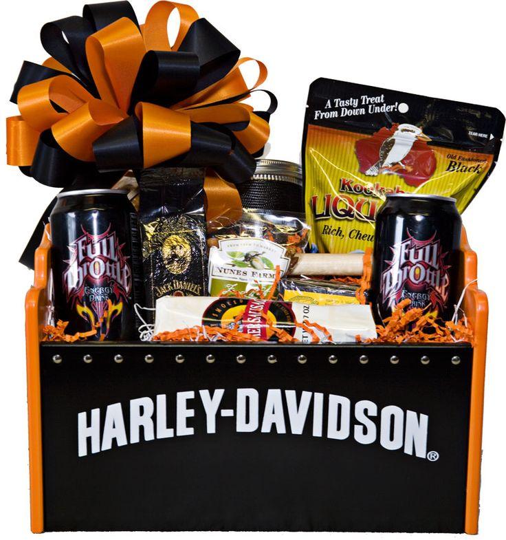 Harley Davidson Basket Gifts Pinterest Baskets And