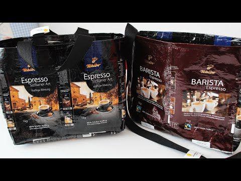 Wir haben wieder Kaffeepackungen gesammelt und uns eine 2. Variante für Taschen ausgedacht. Die Taschen sind sehr stabil, stehen von alleine und kosten keine...