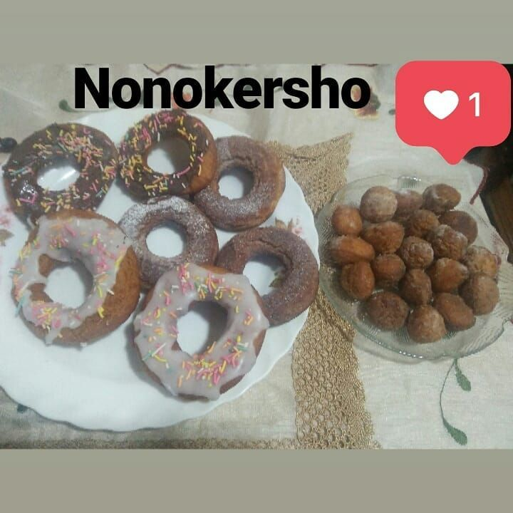 دلع كرشك On Instagram الدوناتس المقادير 3كوب دقيق 3معلقة صغيرة بيكنج بودر 2بيضة معلقة صغيرة ڤانيليا معلقة صغيرة جوزة الطيب Food Doughnut Desserts