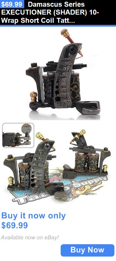 Tattoo Machines and Parts: Damascus Series Executioner (Shader) 10-Wrap Short Coil Tattoo Machine Supply BUY IT NOW ONLY: $69.99