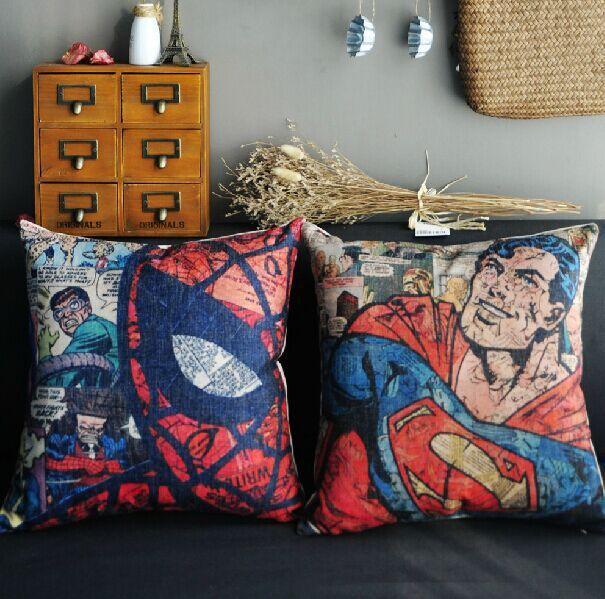 Человек-паук наволочка, супермен чехол, человек-паук superhero Лига Справедливости супермен бросить подушку крышка