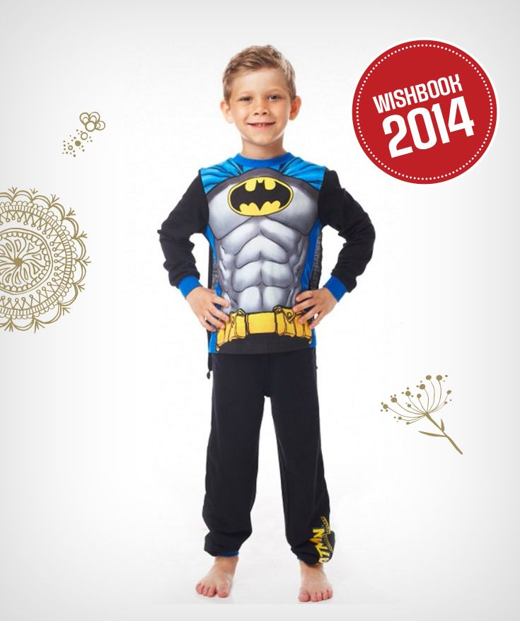 Your little boy can be the superhero this holiday season in a DC Comics pyjama set with cape!