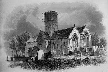 St. Saviour's Church, (St. Sauveur), 1840. Drawn by Robert Mudie.