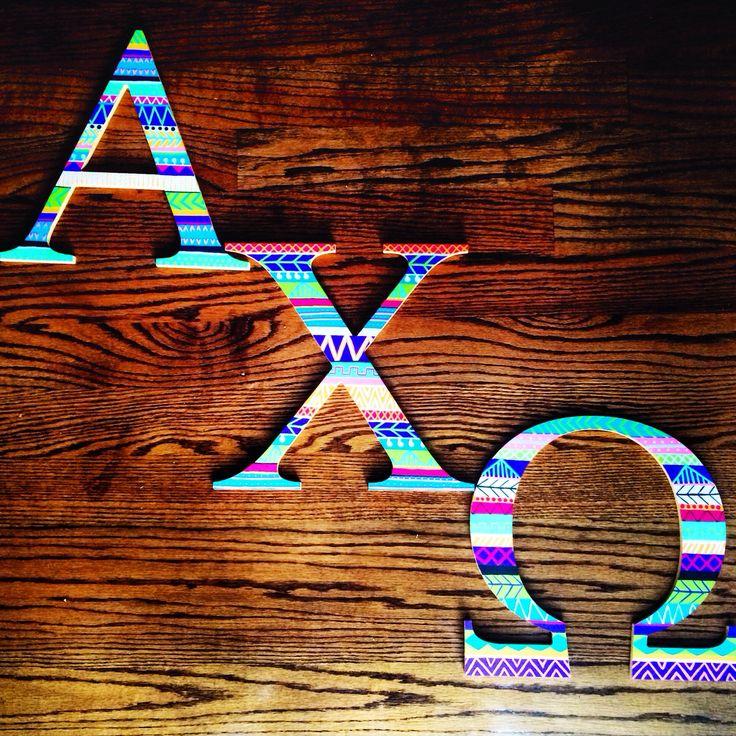 Wooden painted sorority letters #axo #tcuaxo