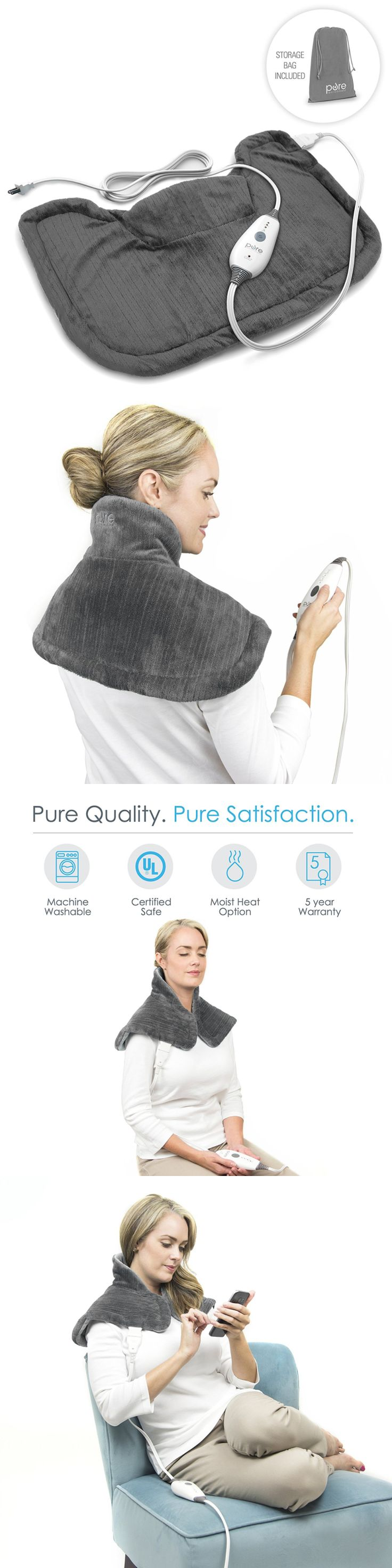 Cold and Hot Packs and Wraps: Purerelief Neck And Shoulder Heating Pad With Fast-Heating Technology, Magnetic... BUY IT NOW ONLY: $39.94