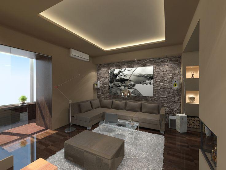 Nappali látványterv / Living room - architectural visualisation