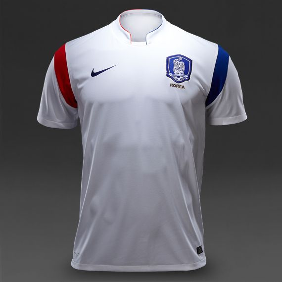 Nike South Korea SS Away Stadium Shirt - Football White-Challenge Red-Old Royal