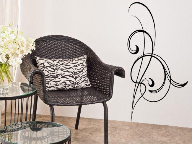 Vinilo adhesivo Fancy Scroll sutil y delicado un acento decorativo para adornar tu pared