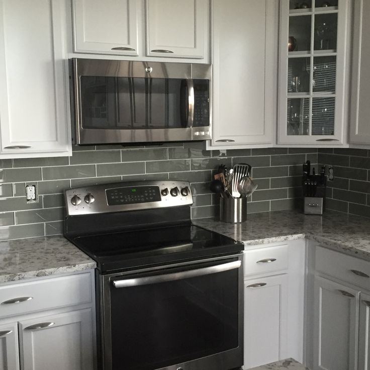 Grey Subway Tile Kitchen Backsplash Novocom Top