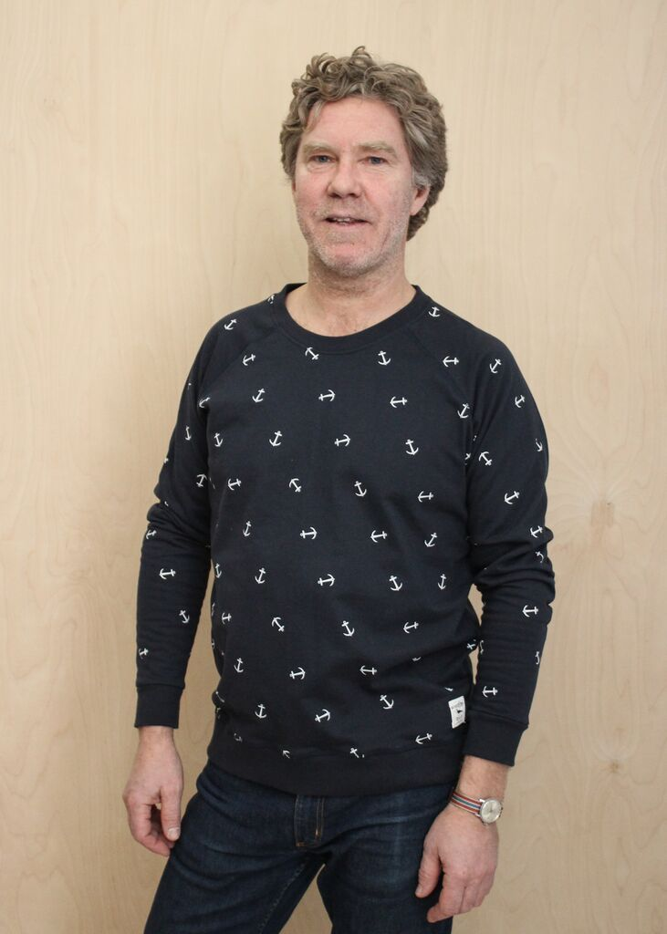 Sweater Anchorpattern Navy