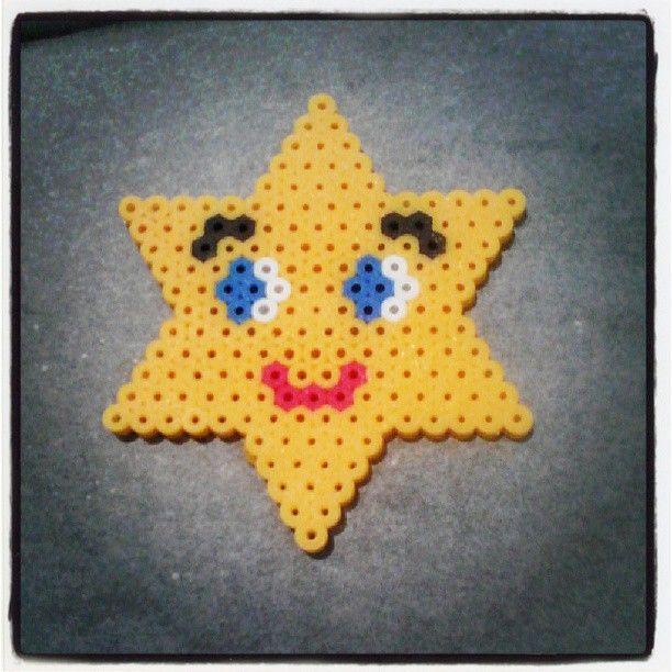Star perler beads
