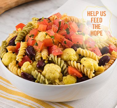 Fusilli, Cauliflower and Cream Corn | For every Facebook share or download of our Pasta to the Rescue cookbook or its recipes, we're donating portions of pasta to food banks across Canada. Visit https://www.catelli.ca/en/feed-the-hope/ to learn more.