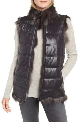 b247d3f8d New Linda Richards Reversible Genuine Silver Fox Fur Vest online ...