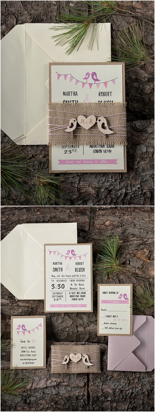 pink and gold wedding invitation kits%0A    Our Absolutely Favorite Rustic Wedding Invitations