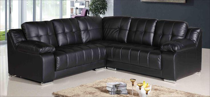 Black Leather Corner sofa Sale