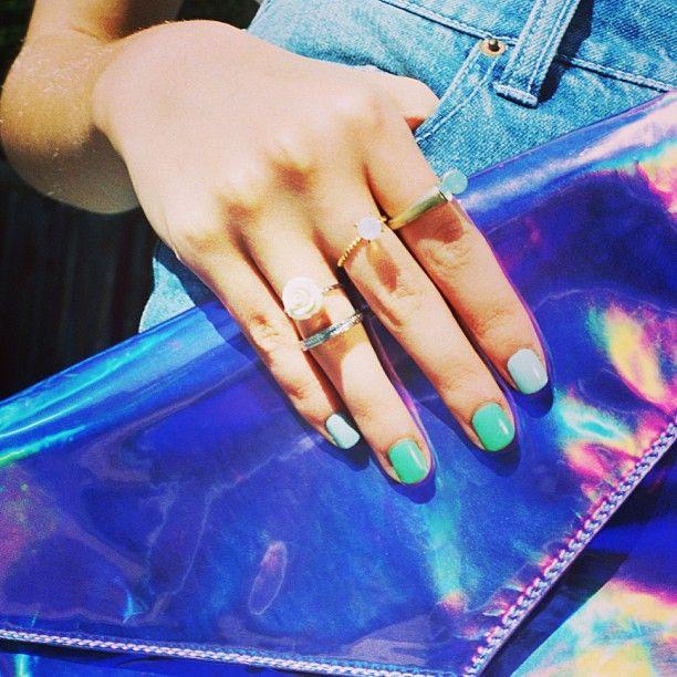 Springing into everything #hologram. #urbanoutfitters
