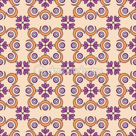 Этнические цветочный фон — стоковая иллюстрация #119297020