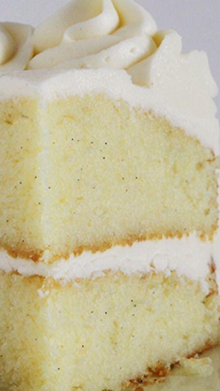 Ultimate Vanilla Cake Recipe  ~ It is amazing!                                                                                                                                                                                 More