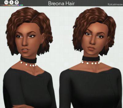 """The Sims 4 Mody: Nowa fryzura """"Breona"""" od KOTCAT"""