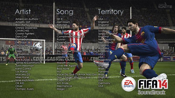 Soundtrack de FIFA 14 reúne a 37 artistas internacionales - http://www.tecnogaming.com/2013/09/soundtrack-de-fifa-14-reune-a-37-artistas-internacionales/