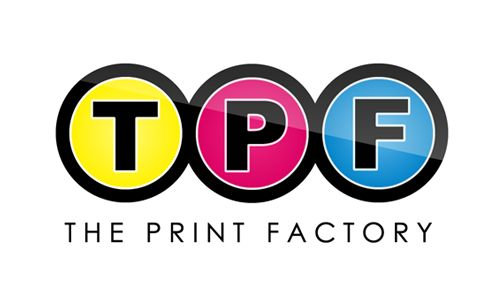 The Print Factory Logo Design (Alternate), Focuses: CMYK, simplicity and usability. #pixelution #pixelutiondesignstudio