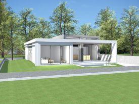 plan maison contemporaine pyrnes orientales 66 plan villa plain pied de 105 - Maison Moderne En Acier De Plain Pied