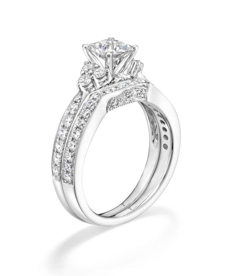 Elegant Kay Jewelers Wedding Rings Sets: Tolkowsky Diamond Bridal Set In 14K White Gold. Available