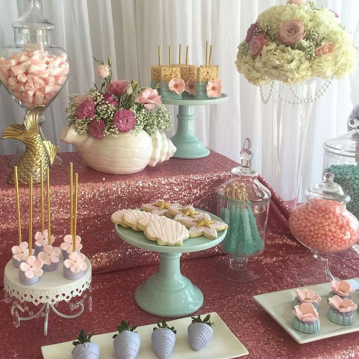 Shabby Chic   Vintage Mermaid Baby Shower Party Ideas