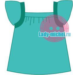 Туника для девочки – выкройка - Одежда для малышей - Выкройки для детей - Каталог статей - Выкройки для детей, детская мода