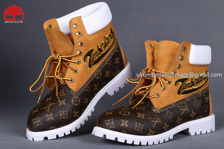 Timberland 6 Inch Boots For Men Luxury Embroidery Surface Brown Wheat White $ 85.00
