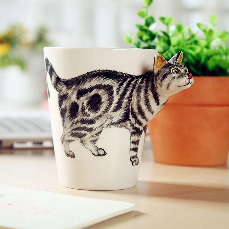 Madden! Chinese Kung Fu Thee Set, Handgeschilderde Keramiek Eerste 3D Stereoscopische Animal Cups, mokken Kat Modellen, gratis Verzending in  van mokken op AliExpress.com | Alibaba Groep