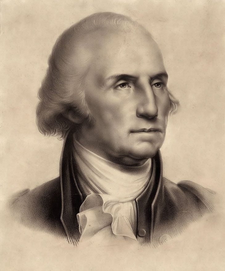 "Portrait of George Washington by Rembrandt Peale: ""Of all the dispositions and habits which lead to political prosperity, religion and morality are indispensable supports""~ George Washington"