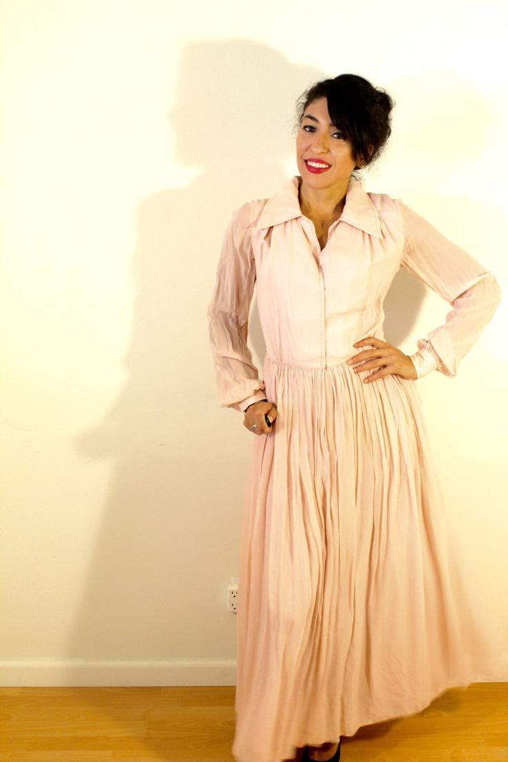 1950s Pink Chiffon Dress by VintageRevival818 on Etsy