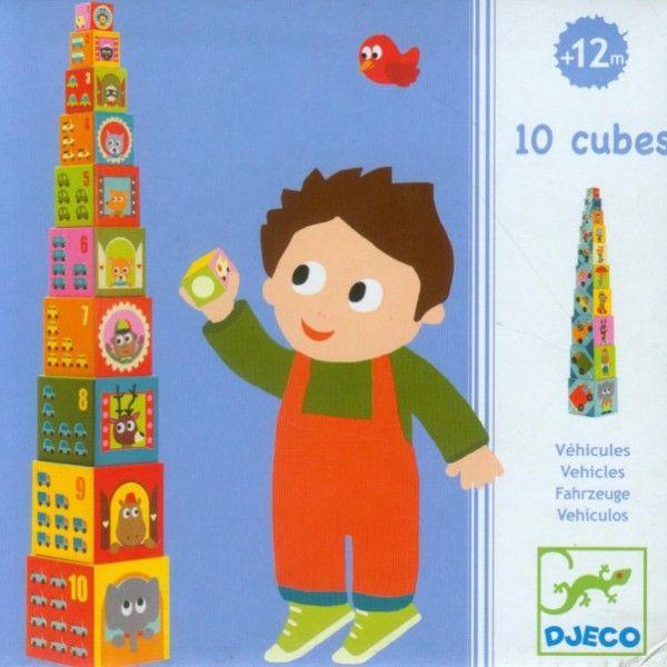 """Κύβοι με σχέδια και αριθμούς """"Οχήματα"""""""