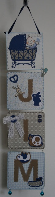 baby room name hanging boards