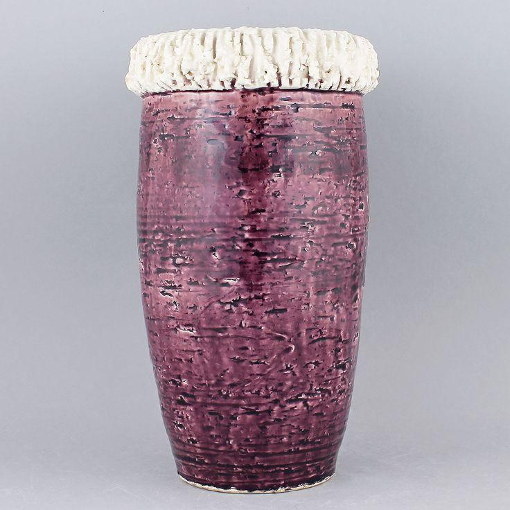 Gunnar Nylund (1960s) Majestic Purple Chamotte Vase