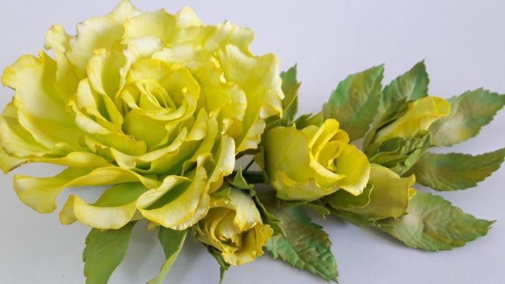 МК.Тонировка лепестков розы с фоамирана для заколки! часть №1