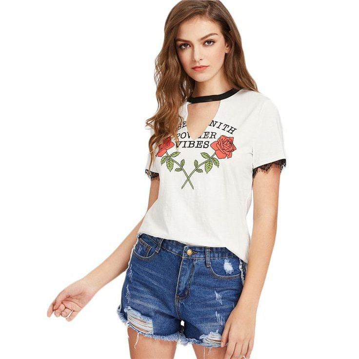 Trendy V-Neck Tee Top