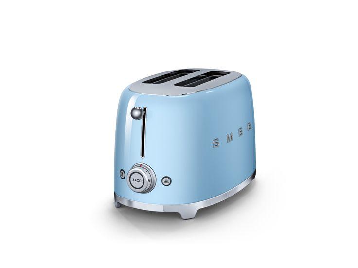 Beautiful blue Smeg toaster.