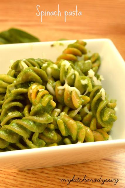 My Kitchen Odyssey - Indian Recipes From Scratch : Spinach Pasta Recipe | Kids Pasta Recipes | Kids L...